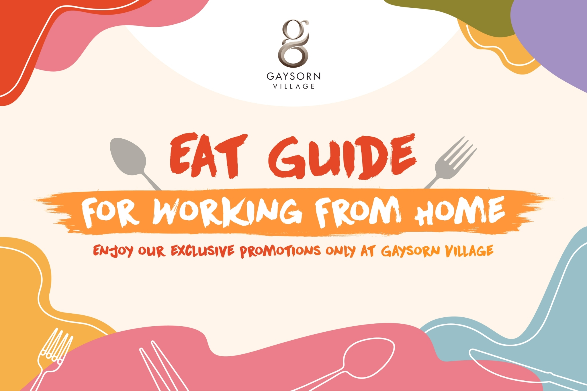 Gaysorn Food Delivery Whilst for Working from Home