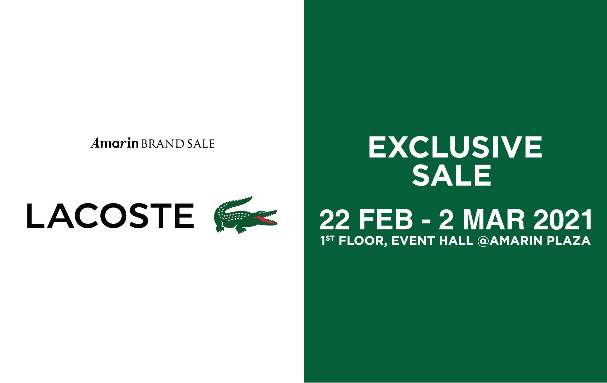 #LACOSTE Exclusive Sale ลดสูงสุด 70%